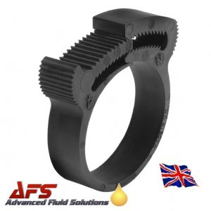 43.2mm - 46.2mm - Herbie Black Plastic Nylon Hose Clip - PA66 Clamp